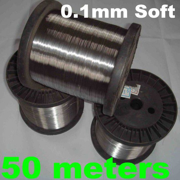 SS304 SS321 SS316 diameter 0.1mm Stainless Steel Rope Hot Rolled Cold Rolled Bright Wire Bright Soft 50 meters(China (Mainland))