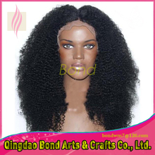 Glueless Lace Front Wig In Stock 7A Virgin Brazilian Afro Curly Hair Wig Natural Color Kinky Curly Full Lace Human Hair Wigs
