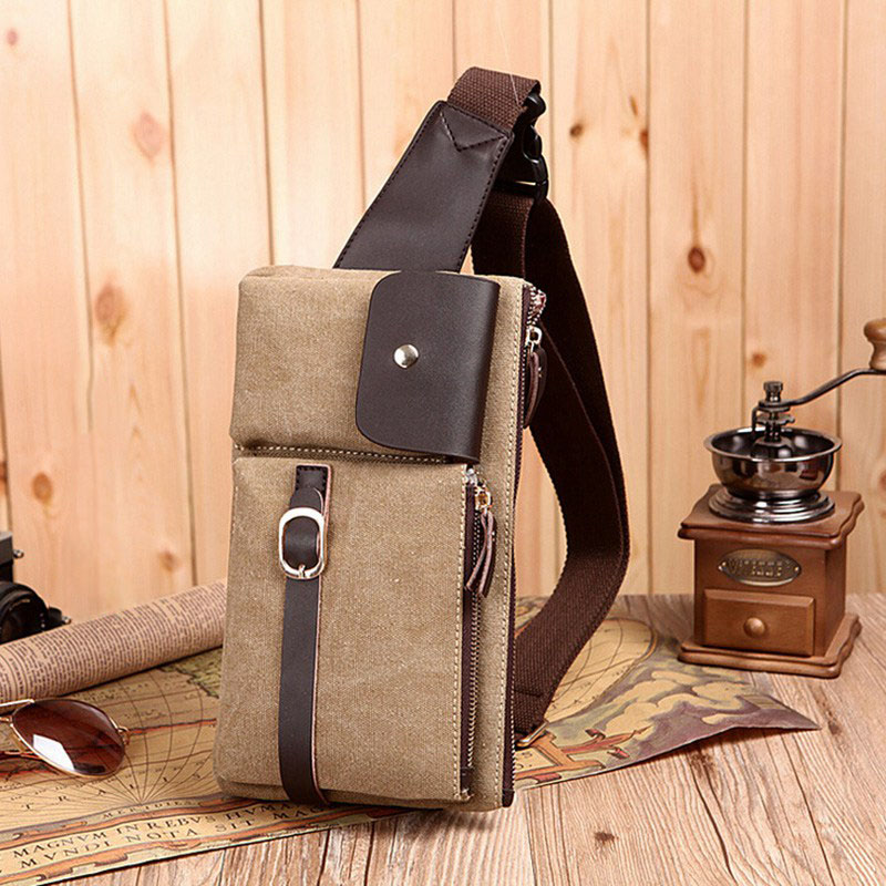 Best Selling Casual Men Chest Bag Large Capacity Travel Messenger Bag Outdoor Sport Leisure Canvas Bag Small Crossbody Pack(China (Mainland))