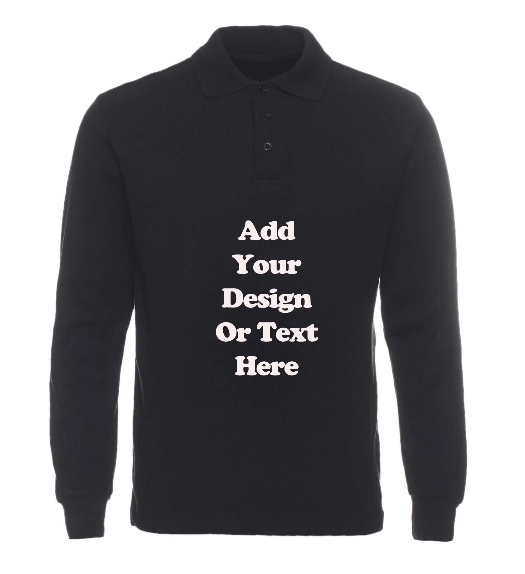 High quality custom made logo men long sleeve polo shirt 100% pique cotton print embroidery logo company/school/club uniform(China (Mainland))