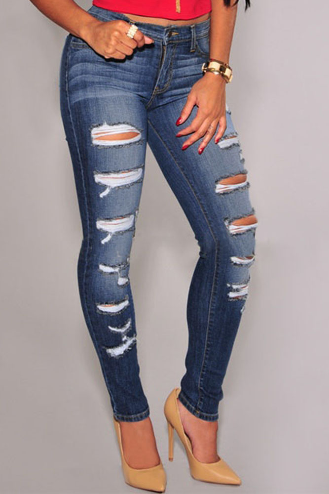 Cheap Destroyed Skinny Jeans - Xtellar Jeans