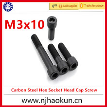 Buy 100pcs M3x10 mm M3*10 mm flat head countersunk head black grade 8.8 Carbon Steel Hex Socket Head Cap Screw for $6.90 in AliExpress store