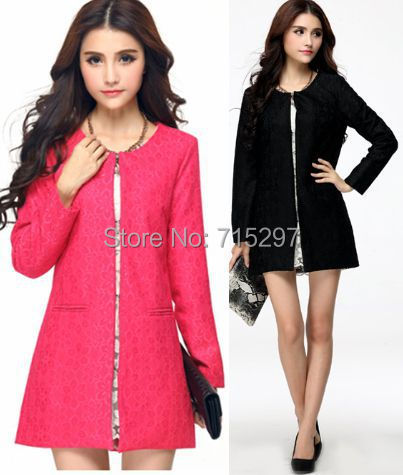 new  OLstyle loose slim elegant long sleeve women trench spring autumn lace plus size outwear ladies blouse Temperament coatОдежда и ак�е��уары<br><br><br>Aliexpress
