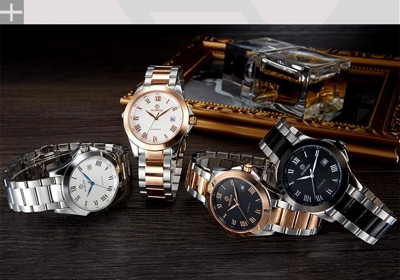 Relogio Masculino 2016 Ochstin мужские Люксовый Бренд Военные Механические Часы Бизнес Часы Из Нержавеющей Стали Мужчины Relojes Hombre
