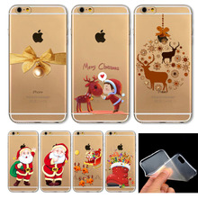 Merry Christmas! For iPhone 6 6S 4.7″Inch case UltraThin Soft TPU Animal Clear Painted Mobile Phone Accessories Back Skin Case