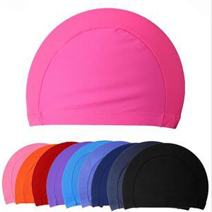 Solid color swimming cap silicone hats water-proof 100% brand new Adult 5colors Fashion Rubber Swim Capstylish Swimming Hat(China (Mainland))