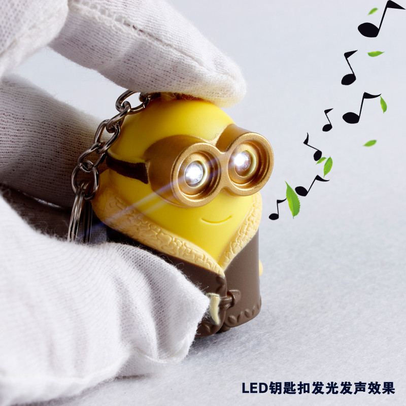 New arrive Cartoon Movie Despicable Me 3 3D talk Minions say i love you led keychain with sound Figure Toys Chiristmas gift<br><br>Aliexpress