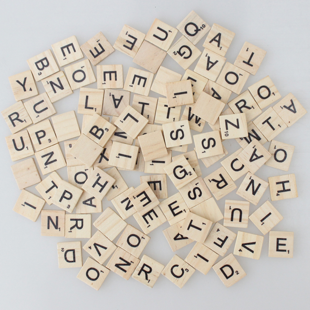 200 * Printing Wooden Photo Props Scrabble Tiles Letters-Pendant Scrapbooking School Study Wedding Little Gifts Favors(China (Mainland))