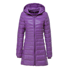 OLGITUM High Quality Winter Warm Coat Ladies Long Women Ultra Light With Bag Women Jackets Down Jacket Tops LJ872Y(China (Mainland))
