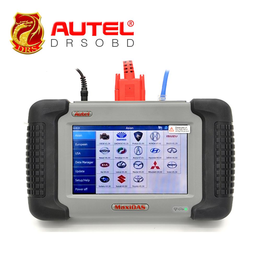 Diagnostic Tools Autel MaxiDAS DS708 Car Diagnostic Tool Update Online Remote Diagnosis ECU Programming Live Data Autel Scanner(China (Mainland))
