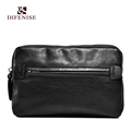 Difenise Men s Handbags the first layer cowhide Leather man day clutches Vintage style Mini men