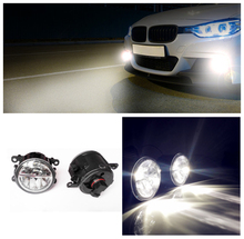 Car styling led Fog Lights Peugeot 607 Saloon 9D 9U 2000-2006 fog lamps 10W DRL 1SET - Lei MeNg AuTO NO. 1 store