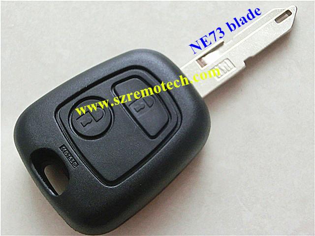 car key citroen C5 2 button remote key shell citroen c2 key NE73 blade(China (Mainland))