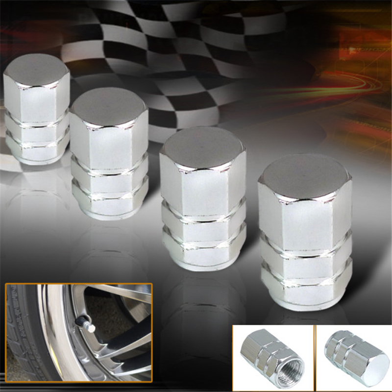 8Pcs/Lot Universal Fit Aluminum Alloy Wheel Tire Air Valve Stem Caps For Car Bicycles Motorcycle Bike Silver Car Styling(China (Mainland))