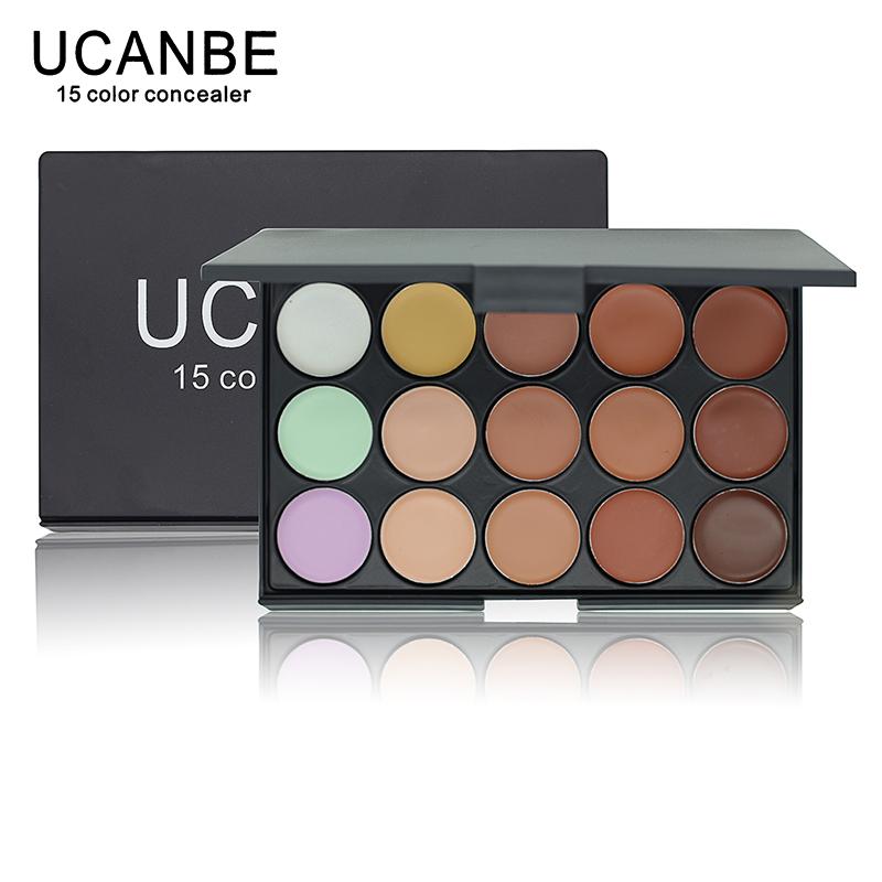 UCANBE Brand 1 PCS Professional 15 Color Camouflage Facial Concealer Palettes Neutral Contour Cream Makeup set Cosmetic(China (Mainland))