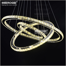 Modern Chrome Chandelier Crystals Diamond Ring LED Lamp Stainless Steel Hanging Light Fixtures Adjustable Cristal LED Lustre(China (Mainland))