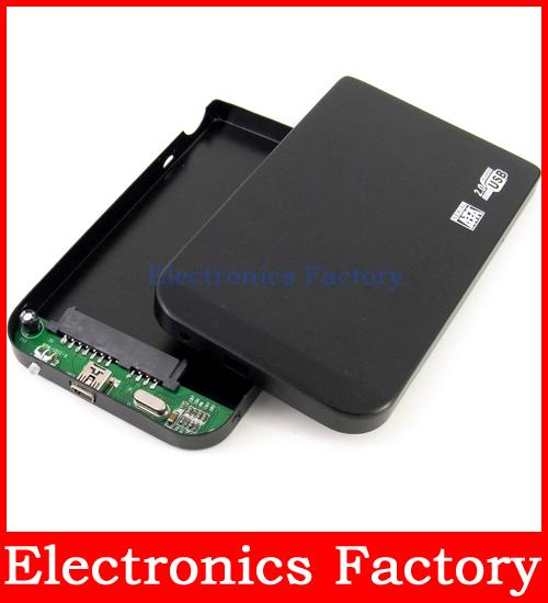 USB 2.0 2.5 SATA External Hdd Hard Disk Drive HD Storage Enclosure Case External Box +USB cable(China (Mainland))