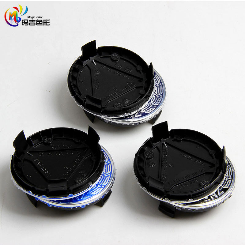 4 pcs, Wheel Hub Center Caps Cover Emblem Badge for MERCEDES Benz, Black , Blue ,Dark Blue75mm(China (Mainland))