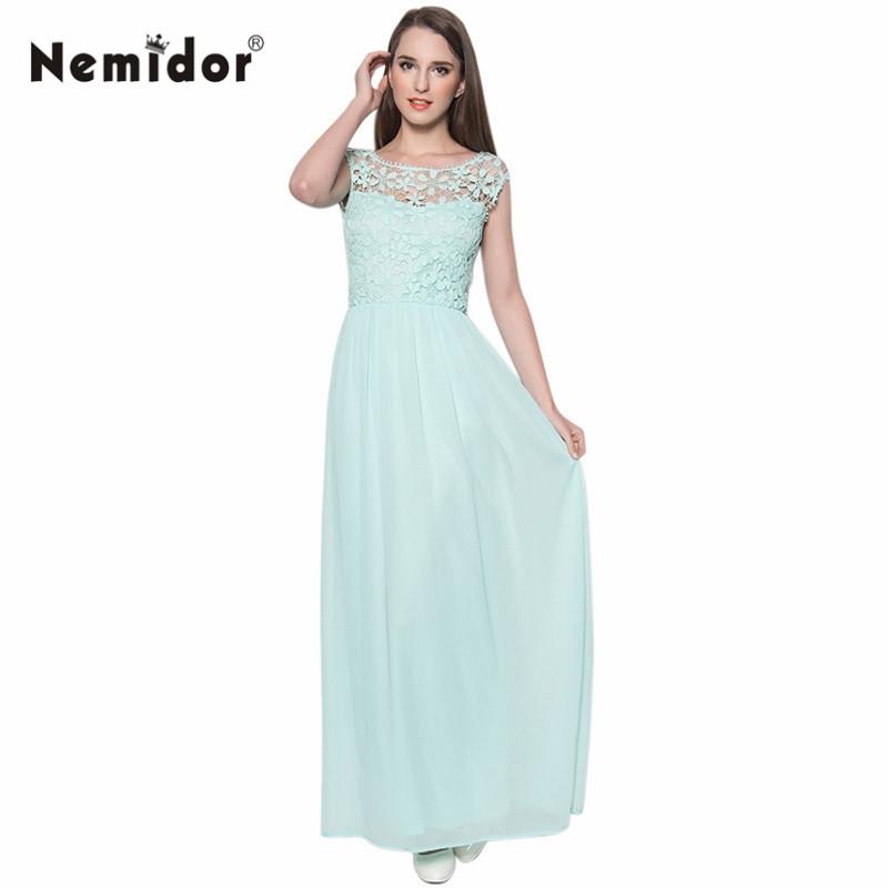 Summer Hot Sale Women Sleeveless Crochet Top Chiffon Sexy Plus Size Bridesmaid Long Lace Maxi Dress(China (Mainland))