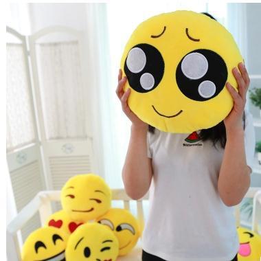 Cute Sofa Cushion Pillow Smiley Emotion Smile Toy Doll Gifts Sofa Cushion Smile Toy Doll Pillow Smiley(China (Mainland))