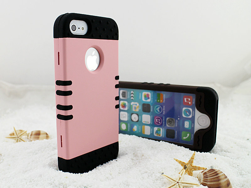 Heavy Duty Armor Hybrid 3 in 1 PC+Silicon High Impact Protection Phone Case Outdoor Sports Shockproof Cover for iPhone 5 5s 6 6s