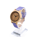 BOBO BIRD J07 Bamboo Watch Simple Genuine Bule PU Leather Band Quartz Watches Gril Women s