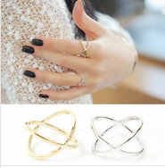 R159 Ring female x three-dimensional surround cutout cross joint jumper rings for women free shipping(China (Mainland))