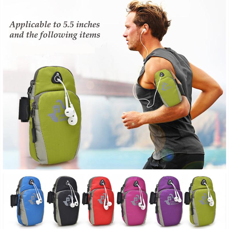 5.5inch Running Jogging GYM Protective Phone Bag Sports Wrist Bag Arm Bag , Outdoor Waterproof Nylon Hand Bag For Camping Hiking(China (Mainland))