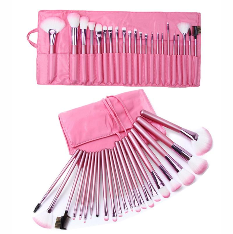 22Pcs Makeup Brushes Pink Foundation Eyebrow Powder Eysshadow Makeup Brush Set Concealer Contour Kabuki Make up Brushes Tools(China (Mainland))