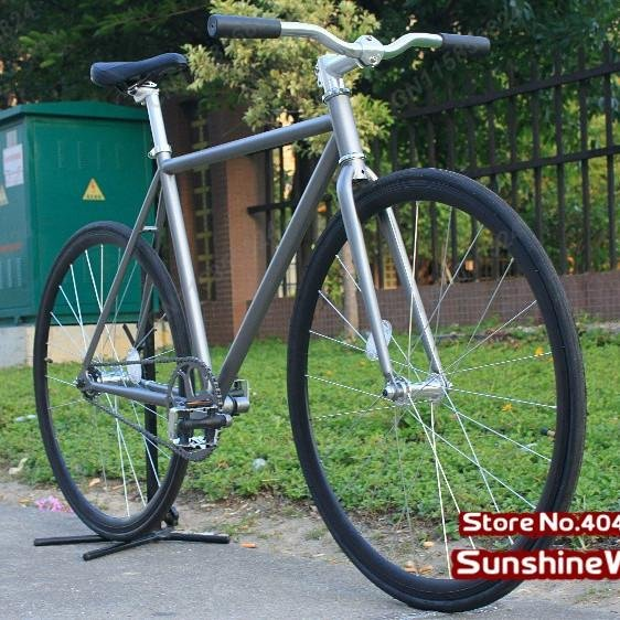 Cool Fashion Gray Frame( 50cm) with Black Rim & Tyre (700X23C) Complete Fixed Gear Bike,Single Speed Bike, FIXEE 2.0(China (Mainland))