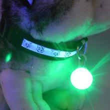 A6 1pcs New Chic Nylon Pet Cat dog Puppy LED Flashing Dog Collar Safety Night Light