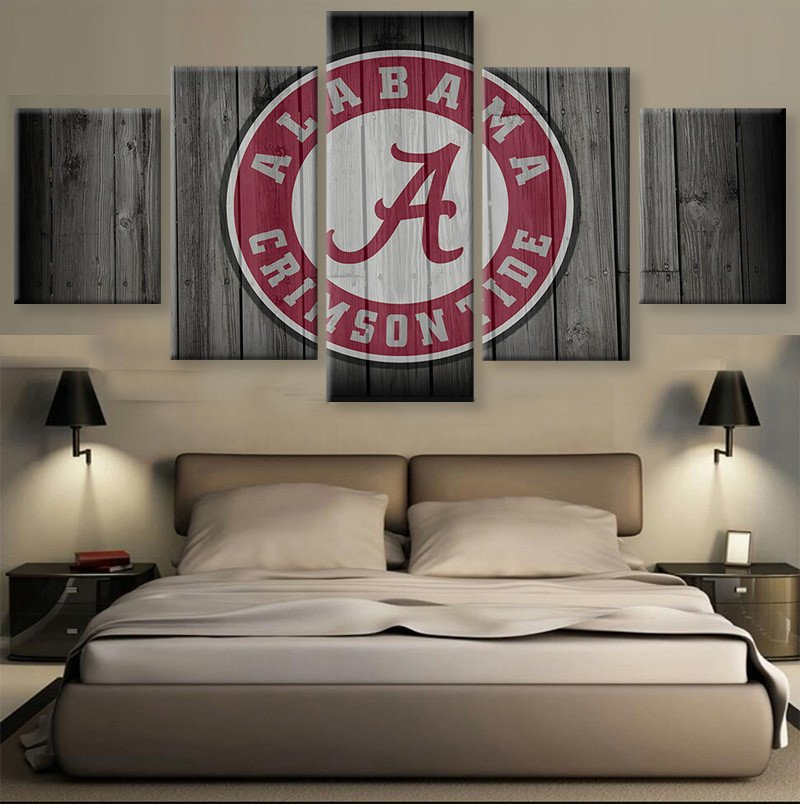 HD print 5 pcs Canvas art alabama Football Sport painting on canvas modern home decor Wall Art painting Picture /PT0710(China (Mainland))