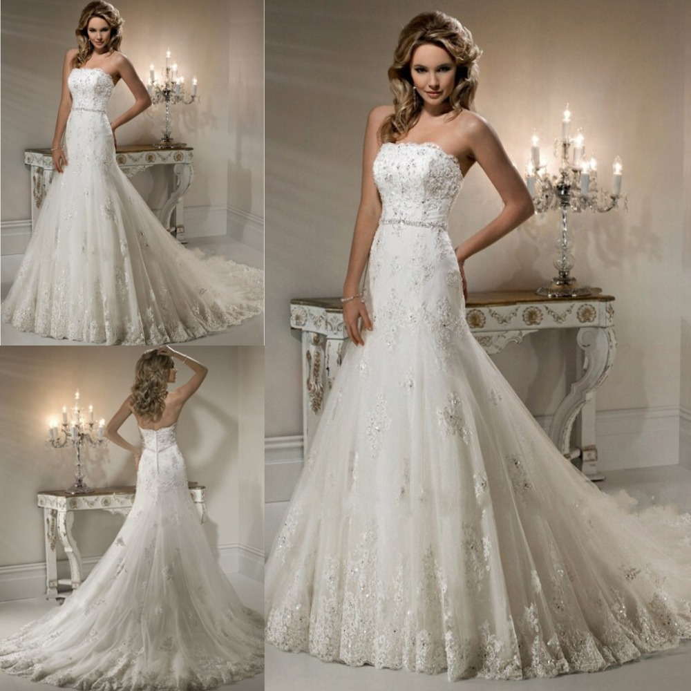 Same as picture elegant mermaid bridal gowns beaded for Princess mermaid wedding dresses