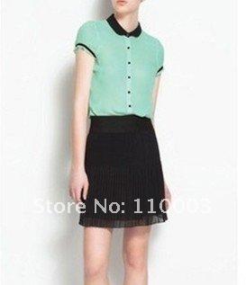 Fresh fashion Puff Sleeve Women's Chiffon Blouse A623