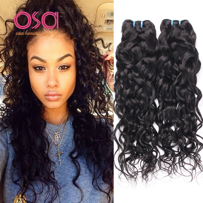 Гаджет  Brazilian Water Wave Ocean Wave Virgin Hair Wet and Wavy Human Hair Wigs 3pcs Weave Bundles Hairpiece Extension Modern Show Hair None Волосы и аксессуары