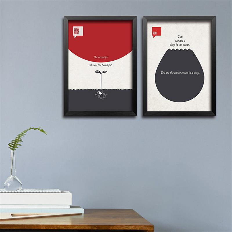 10pcs/lot Inspirational English Words Canvas Painting , Office Decorative Painting DP0028(China (Mainland))