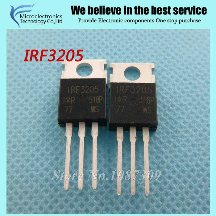 10pcs free shipping IRF3205 IRF3205PBF MOSFET MOSFT 55V 98A 8mOhm 97.3nC TO-220 new original(China (Mainland))
