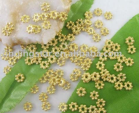 FREE SHIPPING 1000PCS Gold plated Daisy spacer beads 4mm M307GP