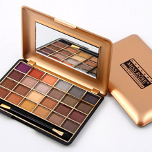 Miss rose makeup professional eyeshadow pallete 24 colors shimmer matte eye shadow south Africa gold metallic shades MS024(China (Mainland))