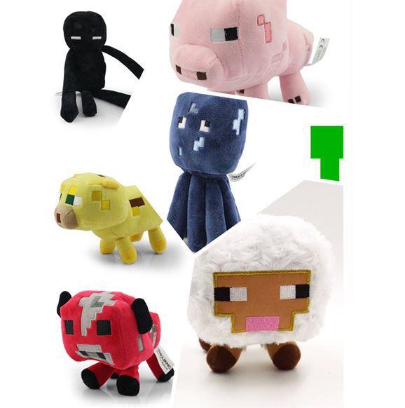 Free Shipping 7pcs/set High Quality Minecraft Toys.13-26cm Cute Anime Doll Plush Minecraft Plush Toys For Children,brinquedos(China (Mainland))