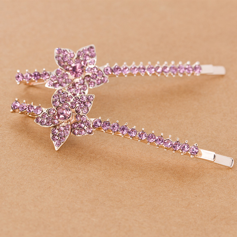 Crystal Flower Hairpin 2015 Fashion Hair Accessories Flower Round Hair clip Barrettes Headbands For Women(China (Mainland))