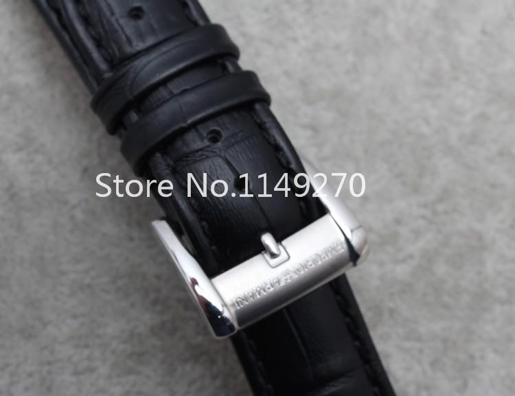 Аллигатор натуральной кожи нержавеющая сталь застежка часы ремешок для бренда бесплатная доставка