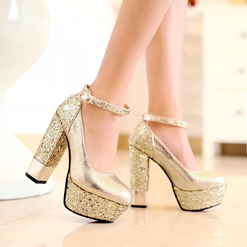 купить золотые туфли на каблуке GuahooИзвестная финская компания