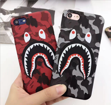 Hot Top Quality Cool Fashion Bape Shark Case For iPhone 7 6 6s Plus Bape Shark Army Phone Case Cover For iPhone 6 6s Hard Matte(China (Mainland))