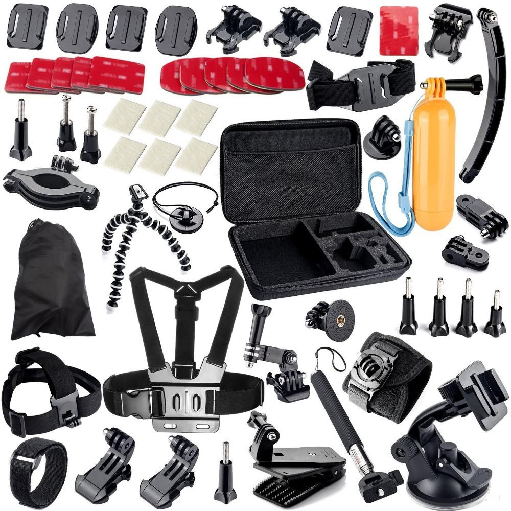 38 in 1 Accessory Kit Car Suction Cup Mount Holder + 360 Rotary Clip Mount Gopro Hero Camera SJ4000 SJ5000 SJ6000 Sport Camera <br><br>Aliexpress