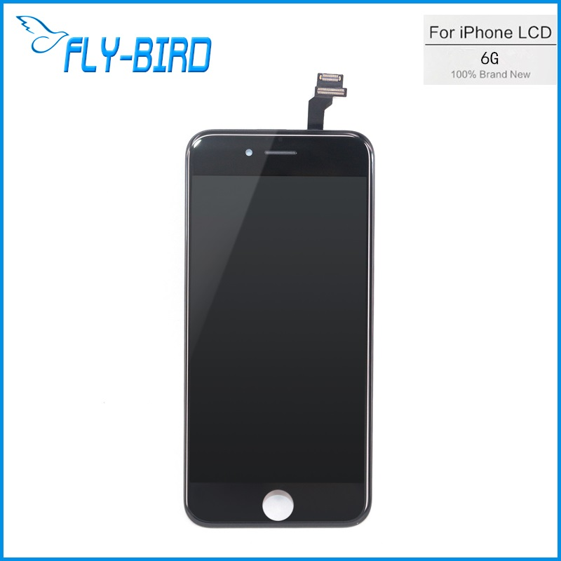 10PCS/LOT For Apple iPhone 6 Digitizer Lcd Assembly + Digitizer Display Touch Screen Replacement White/Black Free Shipping OEM(China (Mainland))