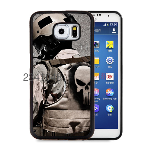 Military Punisher soft hard skin cellphone cases for samsung s6 s6edge plus s7 s7edge cover(China (Mainland))
