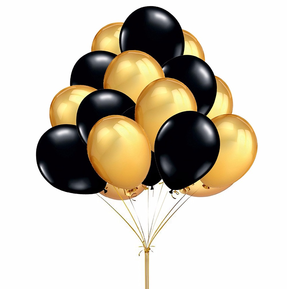 Popular black and gold balloons decorations buy cheap black and gold
