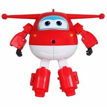 Super Wings ABS Planes Transformation Airplane Robot Toys JETT Action Figure Boys Birthday Gift Brinquedos