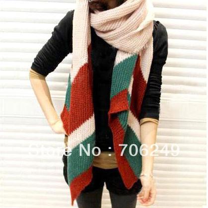 ,Autumn winter kintting scarf,striped scarf,acrylic muffers,2012 new design,warm scarf,fashion ladies shawl - ELLEN FASHION ACCESSORIES store